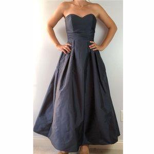 Alvina Valenta Silky Taffeta Blue Bridesmaid Dress